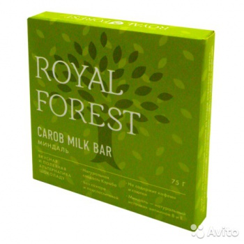 Шоколад из кэроба Миндаль Royal Forest